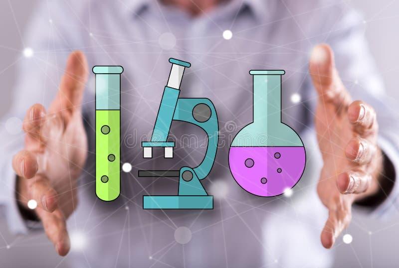 Conceito da biotecnologia imagens de stock royalty free