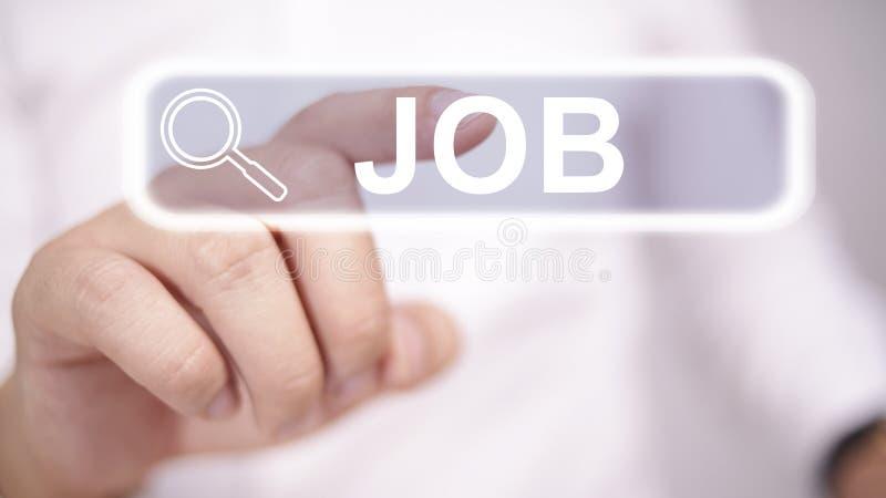 Conceito da busca de trabalho imagem de stock