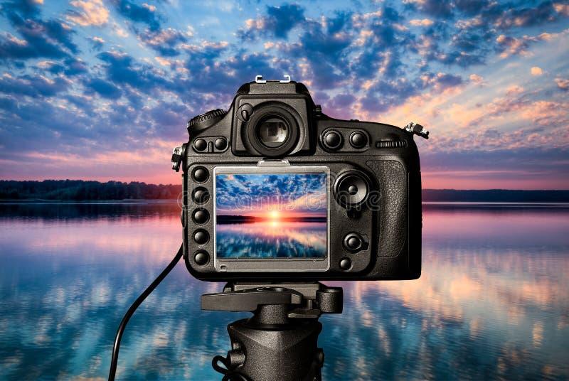 Conceito da câmara digital imagens de stock