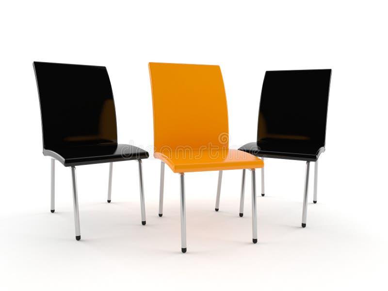 Conceito da cadeira ilustração do vetor