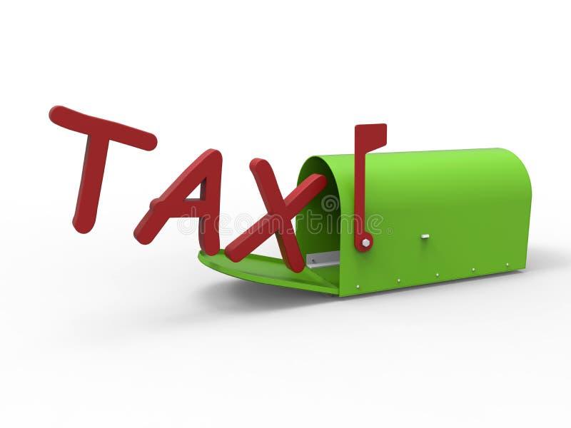 Download Conceito Da Caixa Postal Do Imposto Ilustração Stock - Ilustração de verde, relatório: 65575884