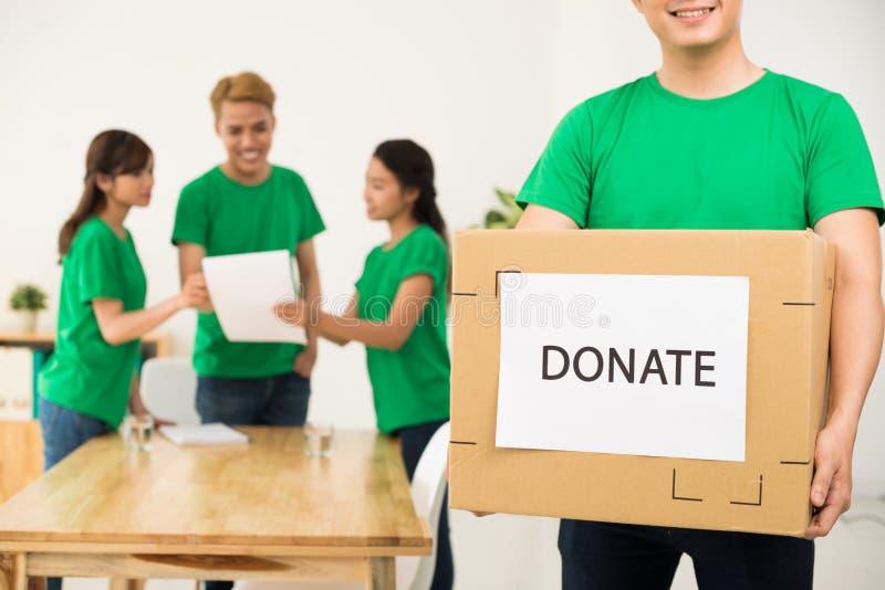 Conceito da caridade e da doação imagem de stock royalty free