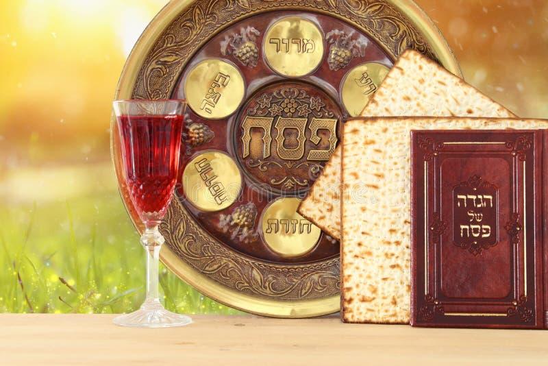 Conceito da celebração de Pesah & x28; holiday& judaico x29 da páscoa judaica; tradicional fotografia de stock royalty free