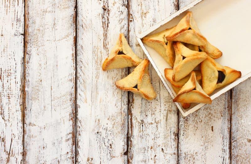 Conceito da celebração de Purim (feriado judaico do carnaval) Foco seletivo fotografia de stock royalty free