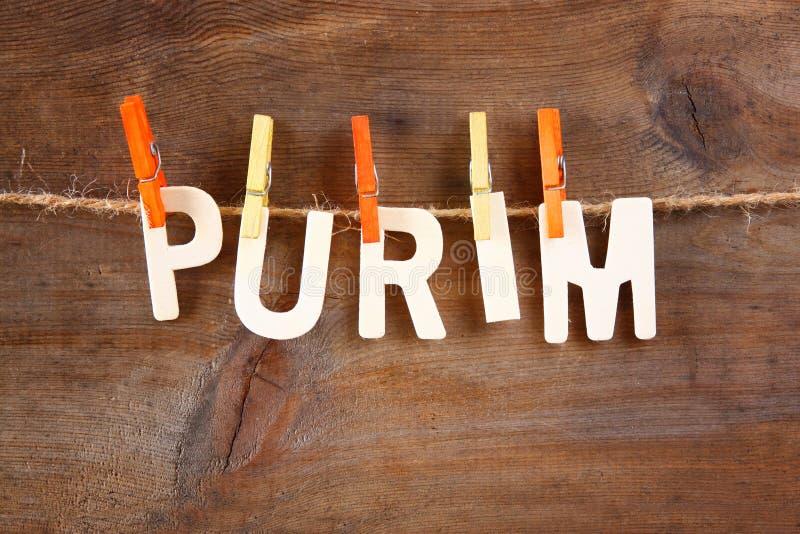 Conceito da celebração de Purim & x28; holiday& judaico x29 do carnaval; imagem de stock
