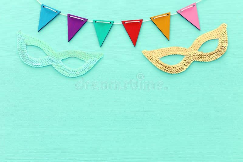Conceito da celebração do festival de Purim & x28; feriado judaico do carnaval imagens de stock
