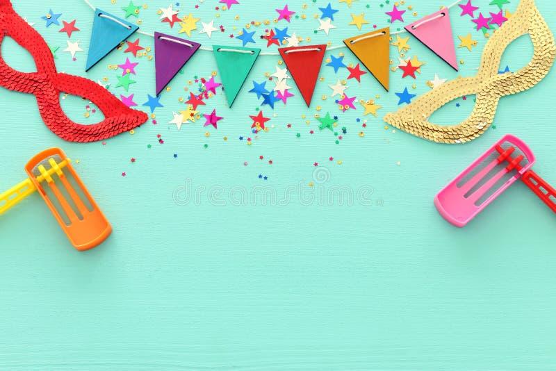 Conceito da celebração do festival de Purim & x28; feriado judaico do carnaval fotos de stock