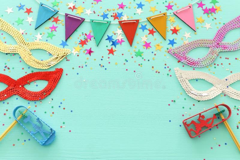 Conceito ( da celebração do festival de Purim; feriado judaico do carnaval fotografia de stock royalty free