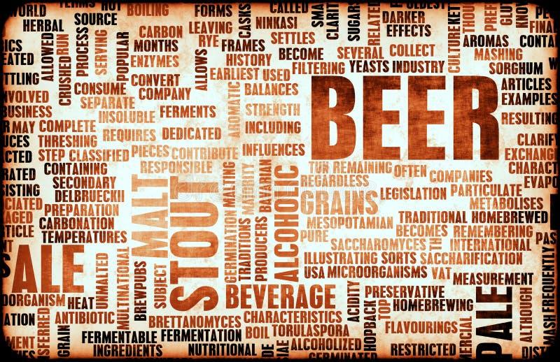 Conceito da cerveja ilustração do vetor