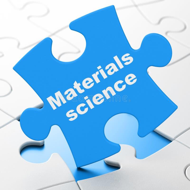 Conceito da ciência: ciência de materiais no fundo do enigma ilustração royalty free