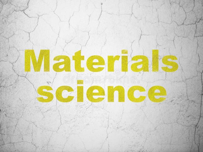 Conceito da ciência: Ciência de materiais no fundo da parede ilustração stock