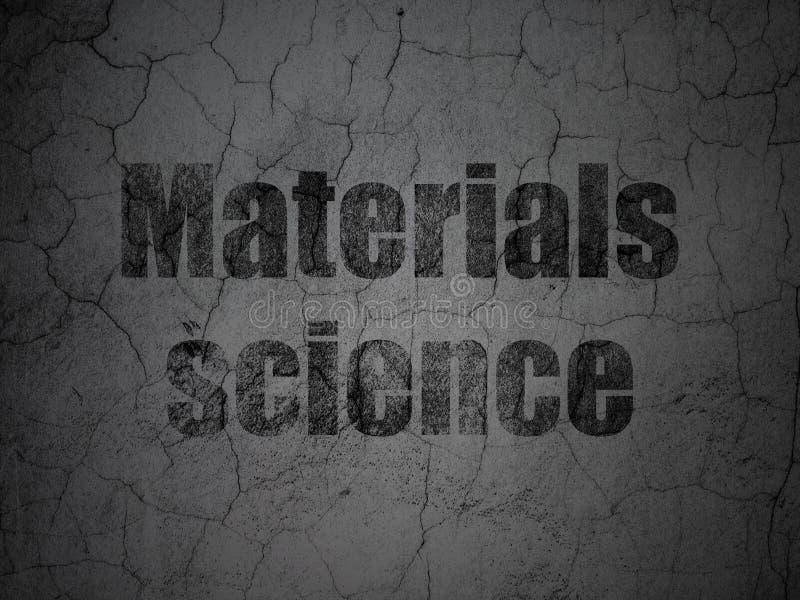 Conceito da ciência: Ciência de materiais no fundo da parede do grunge ilustração stock