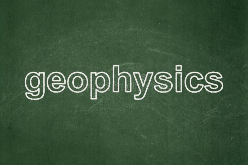 Conceito da ciência: Geofísica no fundo do quadro ilustração stock