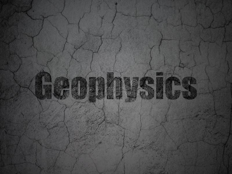 Conceito da ciência: Geofísica no fundo da parede do grunge ilustração do vetor