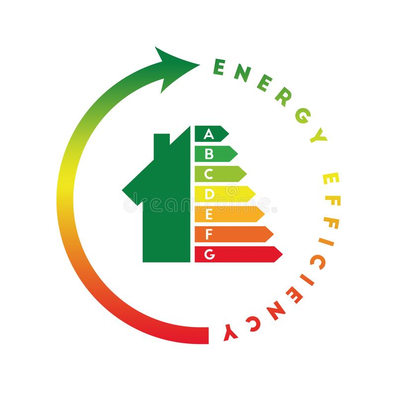 Conceito da classe da energia com casa ilustração do vetor