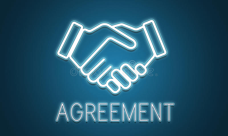 Conceito da colaboração da cooperação do acordo da parceria ilustração stock