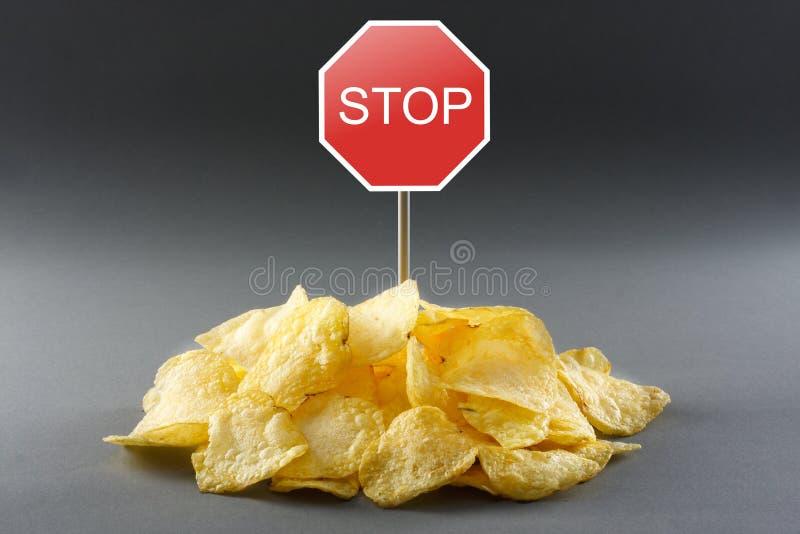 Conceito da comida lixo imagem de stock