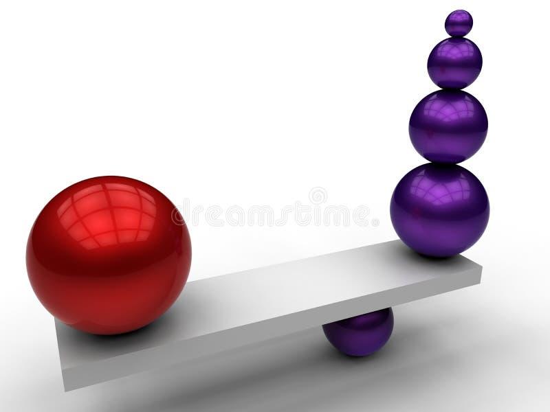 Conceito da compensação do equilíbrio ilustração do vetor