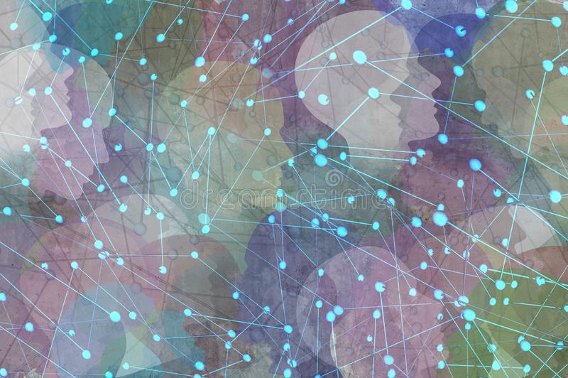 Conceito da comunidade da rede ilustração do vetor