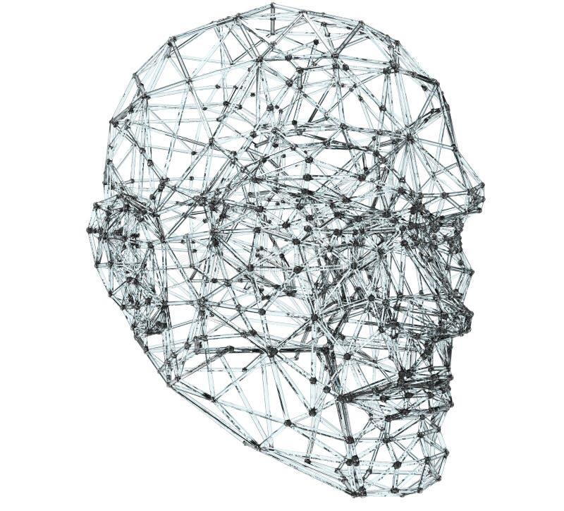 Conceito da conectividade da cabeça humana ilustração stock