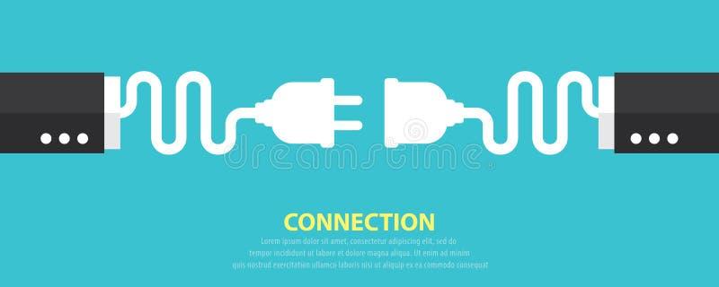 Conceito da conexão ilustração stock