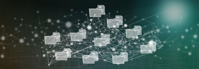 Conceito da conexão de dados ilustração do vetor
