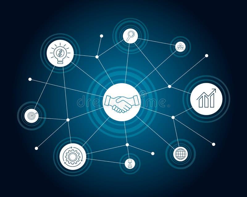 Conceito da conexão de negócio Ilustração do vetor ilustração do vetor