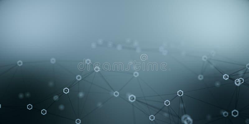 Conceito da conexão e da tecnologia ilustração royalty free