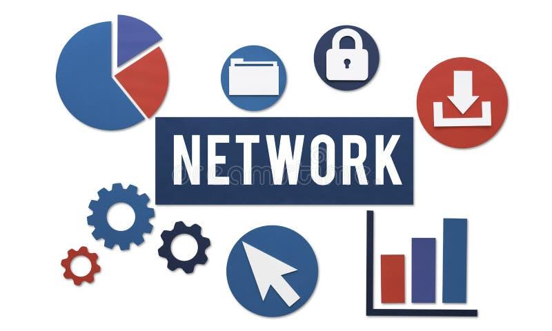 Conceito da conexão a Internet dos trabalhos em rede da rede ilustração royalty free