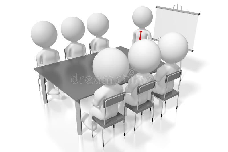 conceito da conferência do estudo de caso do treinamento do seminário 3D ilustração do vetor
