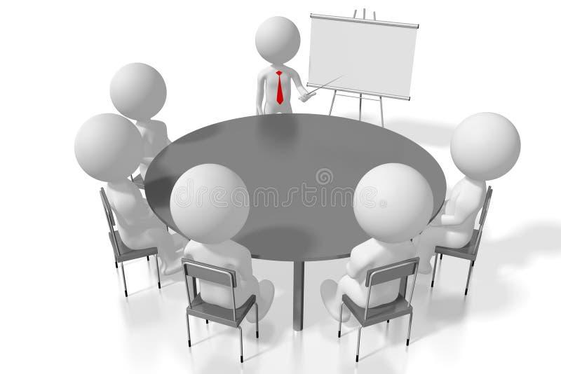 conceito da conferência do estudo de caso do treinamento do seminário 3D ilustração royalty free