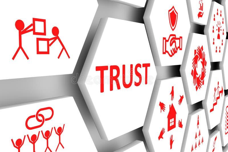 Conceito da confiança ilustração stock