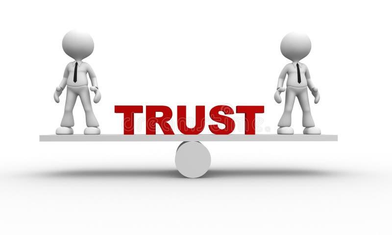 Conceito da confiança ilustração royalty free