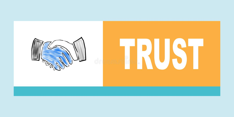 Conceito da confiança Ilustração com quadrados coloridos diferentes ilustração stock