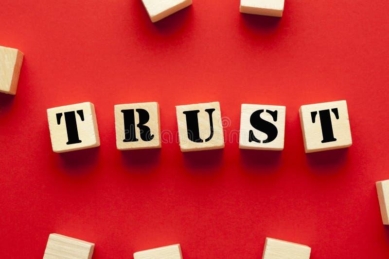 Conceito da confiança da palavra imagens de stock royalty free