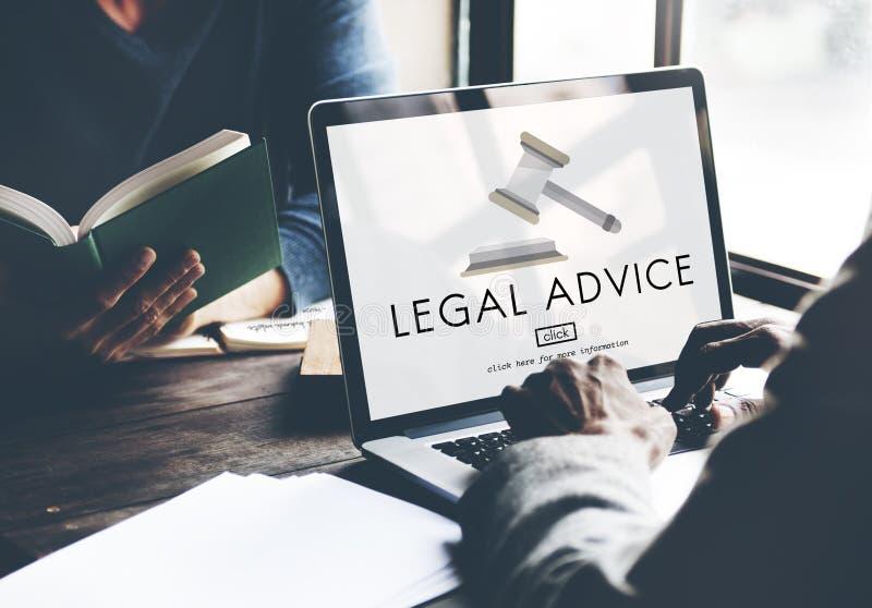 Conceito da conformidade de Legal Advice Law do advogado imagem de stock