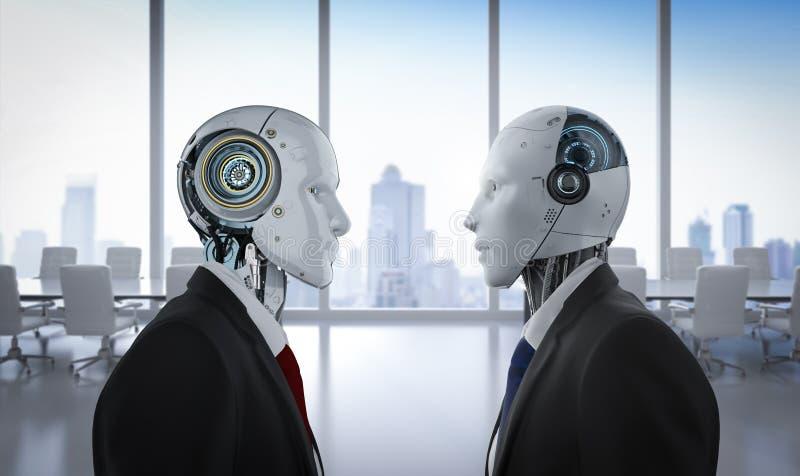 Conceito da confrontação da tecnologia ilustração do vetor