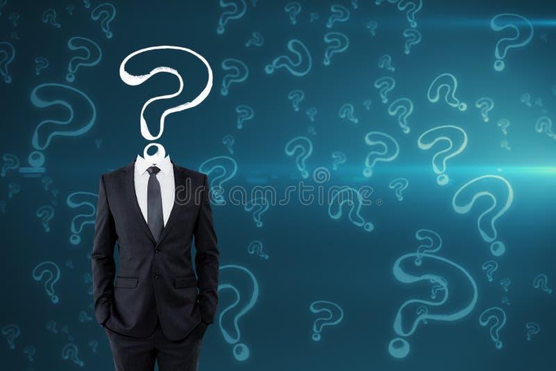 Conceito da confusão e do inquérito imagens de stock royalty free