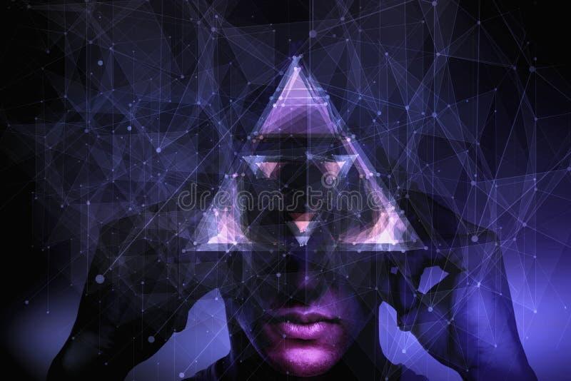 Conceito da consciência e da abstração ilustração do vetor
