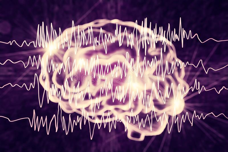 Conceito da conscientização da epilepsia ilustração do vetor