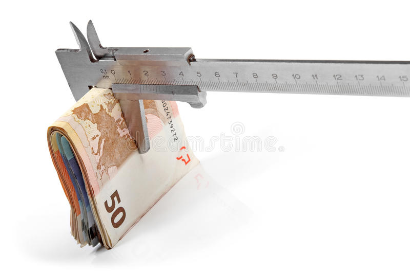 Conceito da consolidação do orçamento fotografia de stock