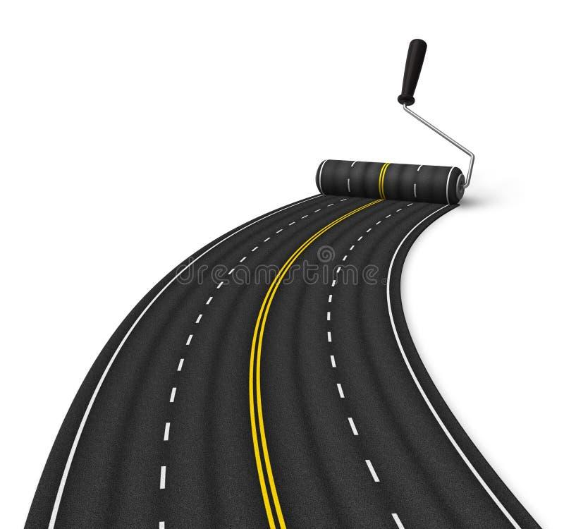 Conceito da construção de estradas ilustração do vetor