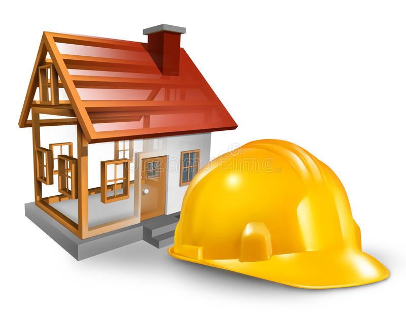 Construção da casa ilustração do vetor