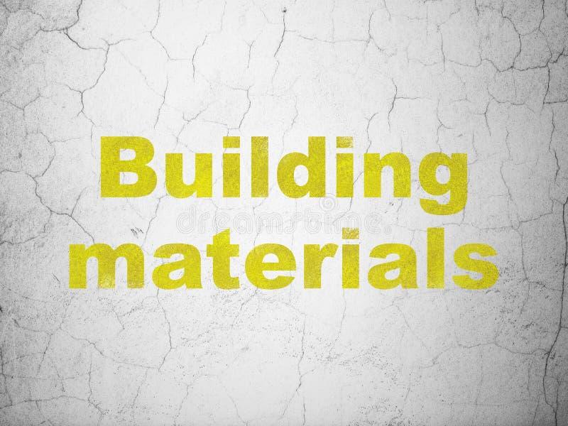 Conceito da construção: Materiais de construção no fundo da parede ilustração royalty free