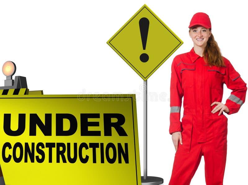 Conceito da constru??o inferior para seu Web page imagens de stock