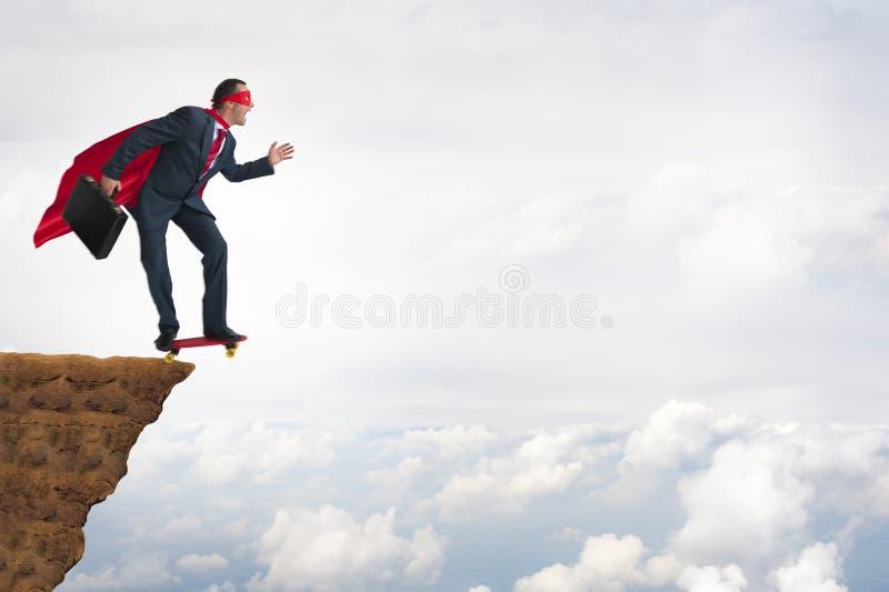 Conceito da coragem da bravura do negócio foto de stock