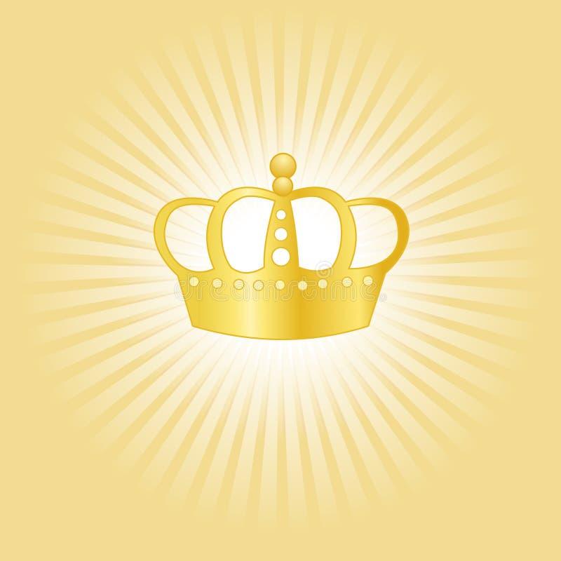 Conceito da coroa do ouro ilustração do vetor