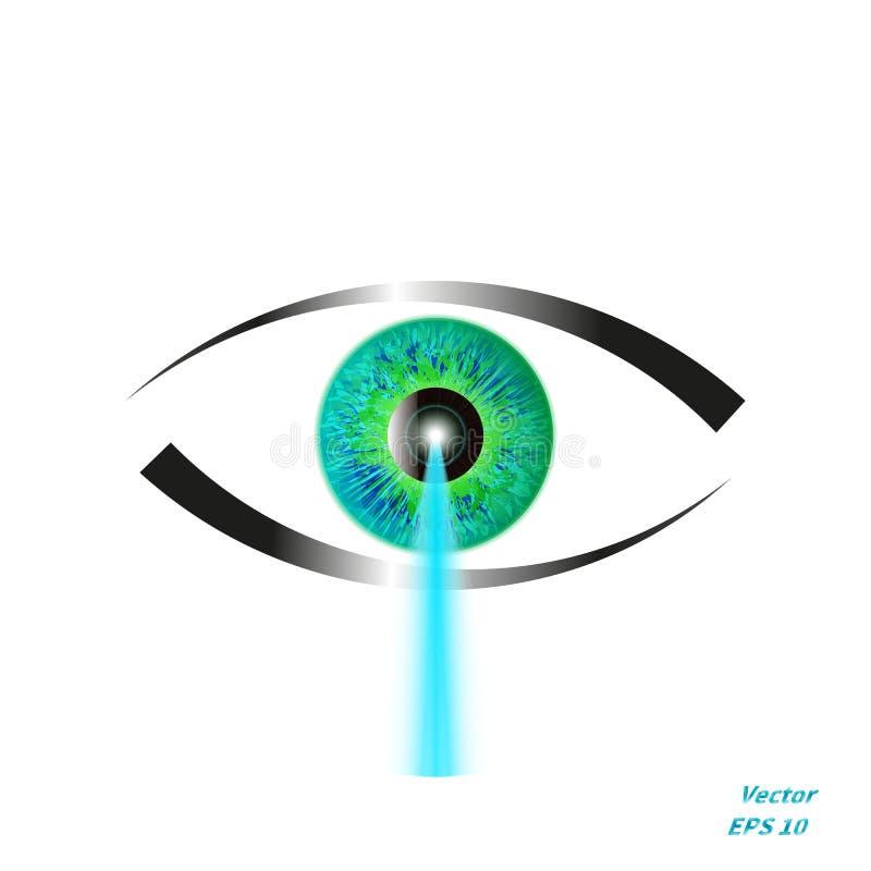 Conceito da correção da visão do laser ilustração do vetor