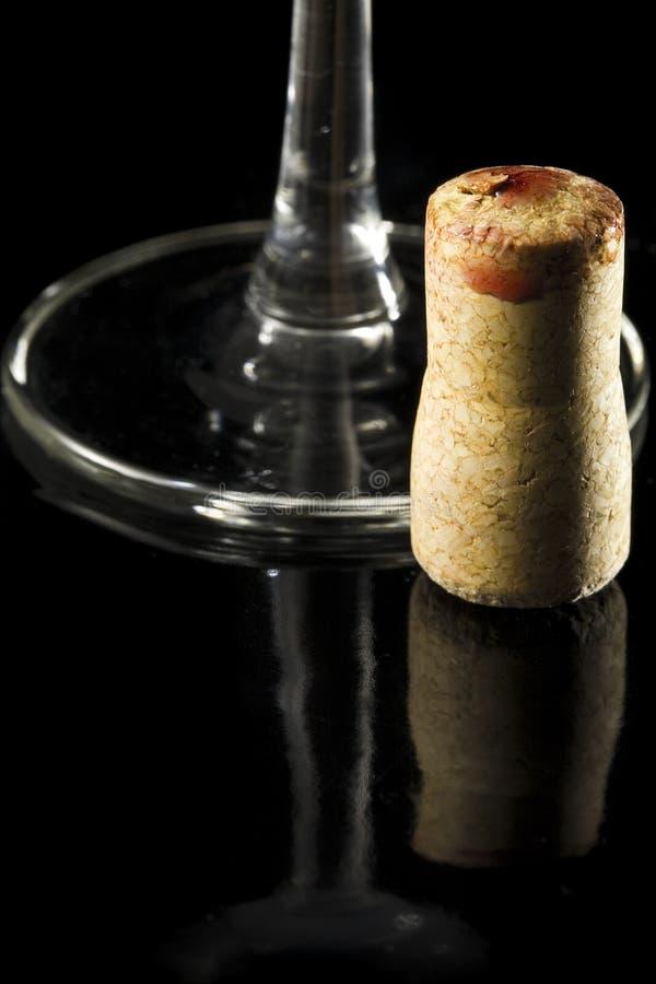 Conceito da cortiça do vinho vermelho imagem de stock royalty free