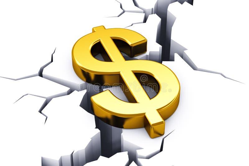 Conceito da crise financeira ilustração royalty free